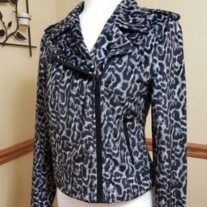Leopard zip up jacket